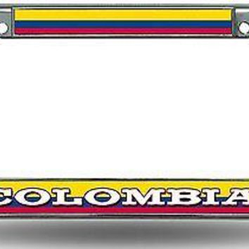 FIFA Columbia Chrome Metal License Plate Tag Frame Cover World Cup Soccer