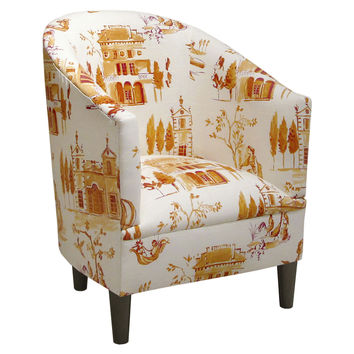 Ashlee Cotton Tub Chair, Tangerine, Club Chairs