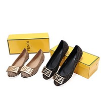 FENDI Fashionable Women Casual Flat Single Shoe