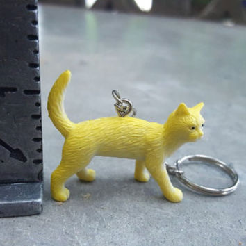 Free Shipping Cat Keychain Yellow Cat Zipper Pull  Great Stocking Stuffer