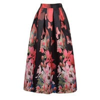 Floral Print Pleated Skirt 10392