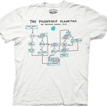 The Big Bang Theory Friendship Algorithm Funny TV Cotton Adult T Shirt