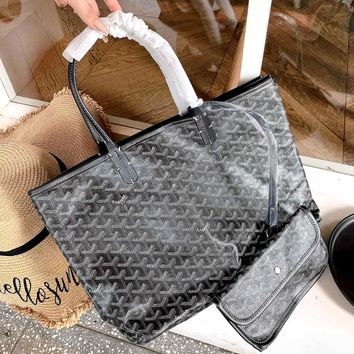 Free shipping-Goyard shopping bag double-sided mother bag shoulder bag two-piece