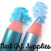 nailartsupplies | Clear Blue Skies - Bright Blue Shimmer Double Color Eye Shadow Duo Pencil | Online Store Powered by Storenvy