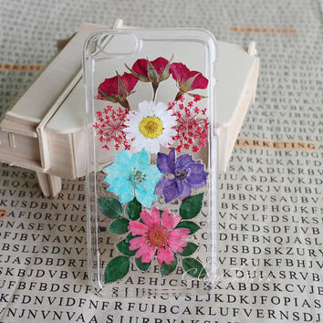 Handmade Real Natural Pressed Flower iphone 6 case iPhone 6 plus case flower iphone 5s cases iphone 4s 5 5s 5c casesamsung galaxy s4 case