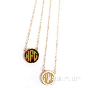 monogrammed preppy necklace marley from marley lilly