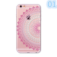 2017 Animals Transparent Case For Iphone 7 6 6s Floral Paisley Grils Flamingo Love Words Phone Cover TPU Silicone Fundas Cases -0329