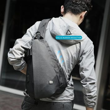 Mark Ryden New Arrivals USB Design High Capacity Chest bag Men Crossbody Bag suit for 9.7 inch Pad  Water Repellent Shoulder Bag