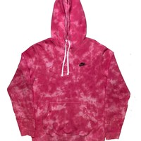 "Nike X Jeffersons Custom Tonal Tie Dye Washed Hoodie ""HOT PINK"""