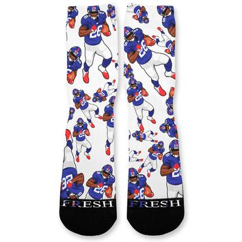 Saquon Barkley Giants Custom Athletic Fresh Socks