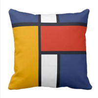 Mondrian Design Throw Pillow