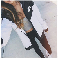 """NIKE"" Fashion Hooded Zipper Cardigan Sweatshirt Jacket Coat Windbreaker Sportswear"