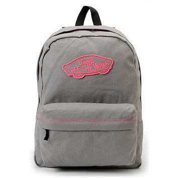 Vans Realm Frost Grey & Neon Pink Backpack