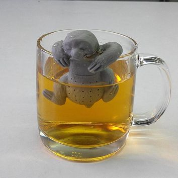 Teapot Cute sloth Infuser Silicone Tea sloth Strainer Filter Infuser silicone sloth tea infuser