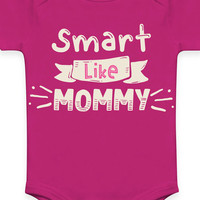 Empowering Organic Baby Girl Clothes - Onesuit, Bodysuit, Smart Like Mommy
