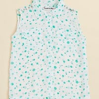 Flowers By Zoe Girls' Dot Sleeveless Shirt - S-XL | Bloomingdale's