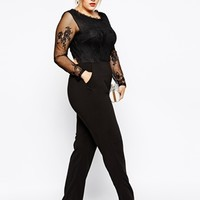 Truly You Lace Top Jumpsuit at asos.com