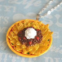 nacho plate necklace