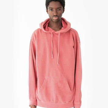 Pigment Dyed Washed Hoodie in Dark Salmon