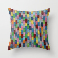 Bricks Throw Pillow by Project M | Society6