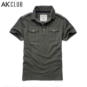 New AK CLUB Double Jetted Pocket Polo Cotton Shirt