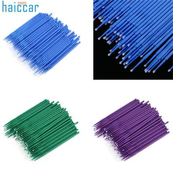 HAICAR 100 Pcs Plastic Disposable Eyelash Cleaning Stick Microblading Micro Brushes Swab Lint Free Tattoo Permanent Supplies