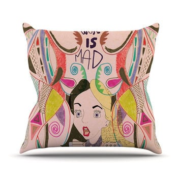 "Vasare Nar ""Alice in Wonderland"" Outdoor Throw Pillow"