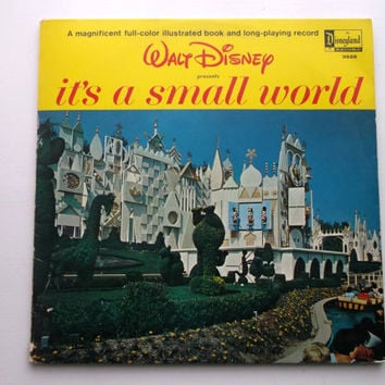 Walt Disney It's A Small World LP Record Book by bishopbrand