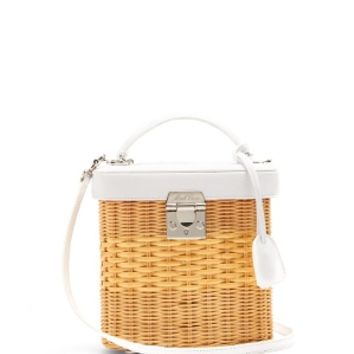 Benchley rattan and leather shoulder bag | Mark Cross | MATCHESFASHION.COM US