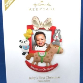 2012 Baby's First Christmas Personalized Hallmark Retired Ornament