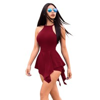 Sexy Solid Color Backless Jumpsuit