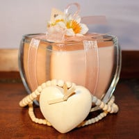 Love Spell Natural Soy Candle. Soy blend with High Quality Love Spell Fragrance