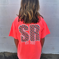 SR Custom Cactus Pocket Tee - Neon Orange Red