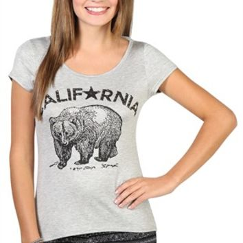 short sleeve tee with california bear screen