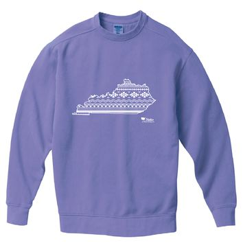 Kentucky Simple Aztec Pigment Dyed Crew Sweatshirt