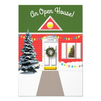 Holiday House Facade Open House Invitation