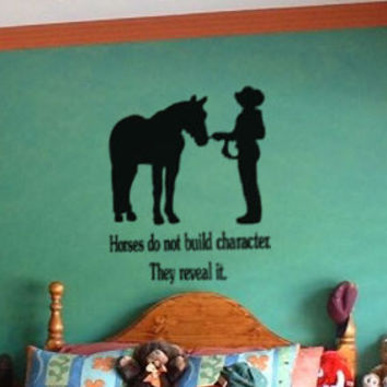 Horse decal-Quote decal-Horse sticker-Quote sticker-Horse wall decal-28 X 32 inches