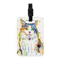 "Rebecca Fischer ""Royal"" Rainbow Cat Decorative Luggage Tag"