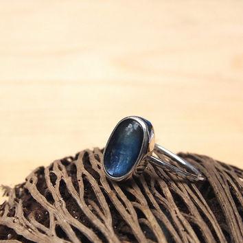 Kyanite cocktail ring - statement ring, ready stock in size 6.5