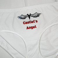 Supernatural Inspired Castiel Panties. Castiel's Angel. Customize By Size, Color and Style.