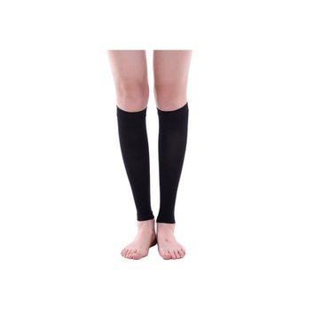 1 Pair Women Adult Slimming Calf Muscles Shaper Compression Sleeve Elastic Shank Legs Socks (Black)