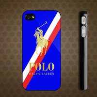 New Polo Ralph Lauren Red Blue Stripe Custom iPhone 4 by CASEKING