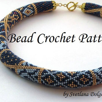 Pattern For Bead Crochet Necklace From Dolgovasvetlana On Etsy