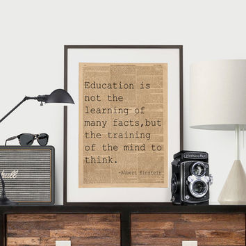 Albert Einstein Quote Science Poster Science Art Geek Posters Atheist Print Wall Art Scientist Poster Albert Einstein Typography NEWSPAPER