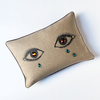 PATCH NYC - PILLOWS - GEM CRYING EYES PILLOW {CP704}