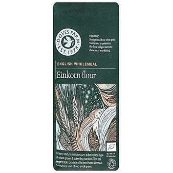 Doves Farm Organic Einkorn Flour 1 K g (Pack of 5),  It grows on tall stalks which are distinguished by their short, flat, two row seed head, Great for rustic style breads