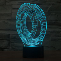 Stylish Creative Bright Colorful Multi-color Abstract Acrylic Illusion LED 3D Gradient Lights [6282455302]