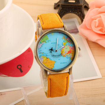 Awesome Stylish Great Deal New Arrival Gift Trendy Good Price Designer's Ladies Denim Casual Couple Watch [11649630287]