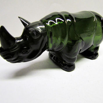 Vintage AVON Rhino Bottle / Decanter, It Is Empty