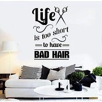 Vinyl Wall Decal Hair Salon Quote Hairdresser Stylist Stickers Mural Unique Gift (ig4324)